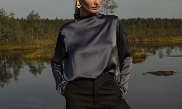 Back To Basics: Blue Silk Shirt