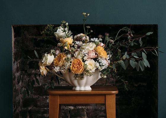 Joanna Bongard Floral Wedding Arrangement Using Flowers To Create a Unique Wedding Ultramarine Flowers