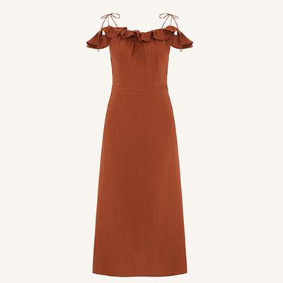 The Acey Linen Dress Vibrant Linen