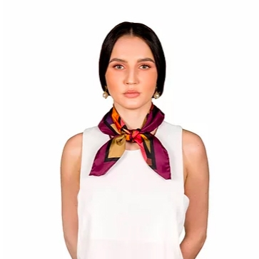 Emily Carter How to Style a Silk Scarf