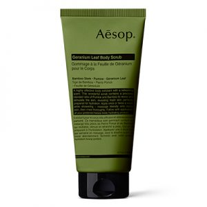 Geranium leaf body scrub Aesop Natural Body Scrubs For Glowing Skin