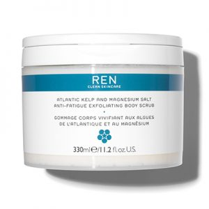 Atlantic Kelp and Magnesium Salt Anti-Fatigue Exfoliating Body Scrub Ren Natural Body Scrubs For Glowing Skin