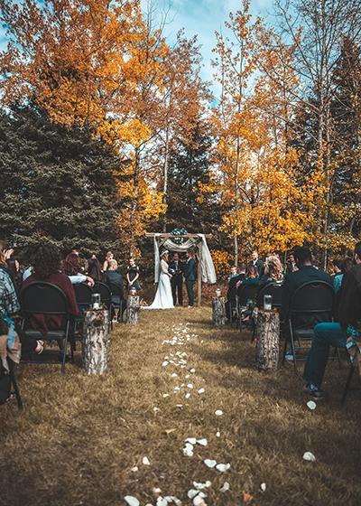 Outdoor Ceremony Planning an Autumn Wedding