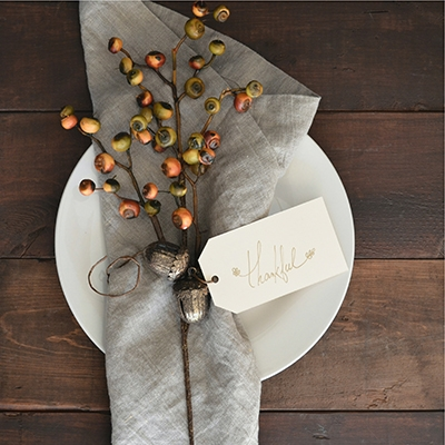 Place Setting Planning an Autumn Wedding