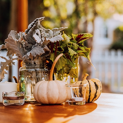 Table Decoration Planning an Autumn Wedding