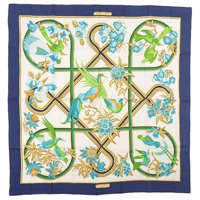 Vintage Hermes Silk Scarf Rokit How to Style a Silk Scarf