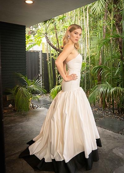 10 Questions For Samata Pattison Red Carpet Green Dress Lea Seydoux Louis Vuitton Oscars