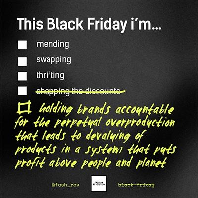 Green Friday Fashion Revolution Boycott Black Friday 2020