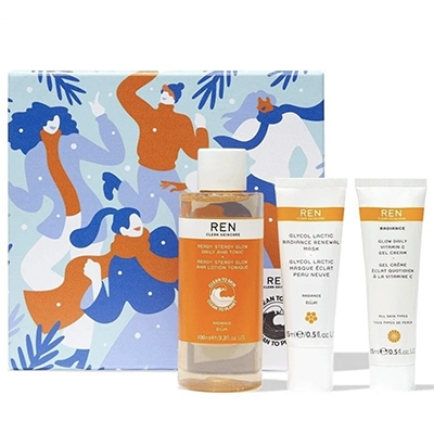 The Vendeur Sustainable Christmas Gift Guide Conscious Beauty Lover Ren Glow To Go Trio