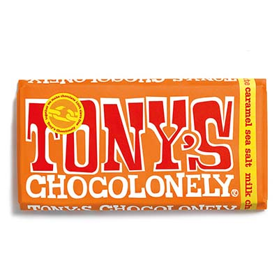 The Vendeur Sustainable Christmas Gift Guide Gifts For £20 and Under Tony's Chocolonely Sea Salt milk chocolate