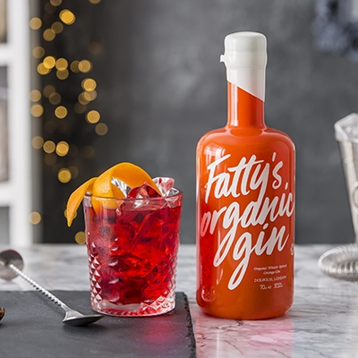Christmas Cocktails Fatty's Organic Winter Spiced orange Gin