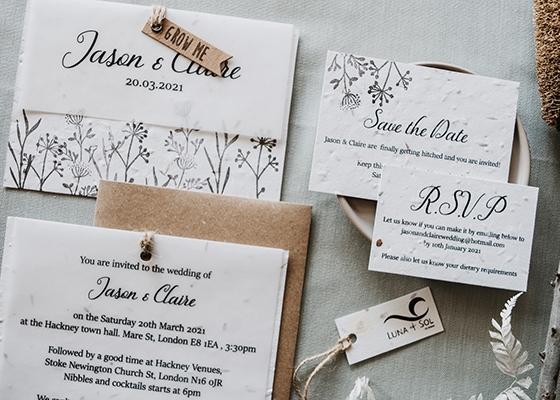 Sustainable Spring Wedding Hannah Mullens Green Soul Weddings Luna & Sol Co Design Seeded Paper