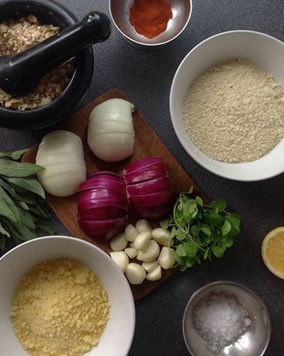 Vegan Christmas Menu Nut Roast Ingredients