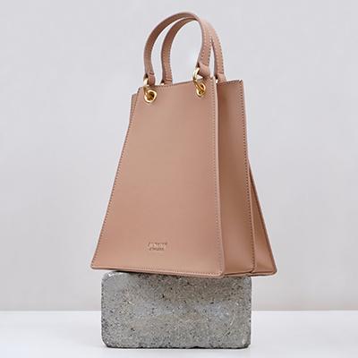 Best Vegan Handbags Alkeme Atelier Triangular Satchel Vegan Bags