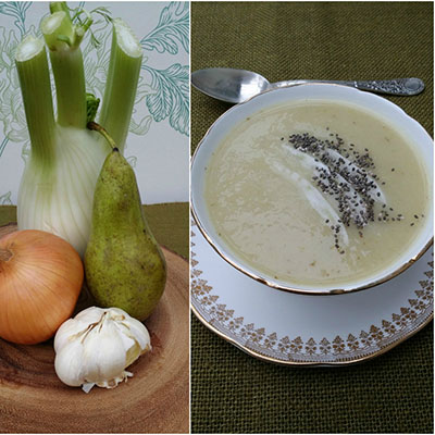 Vegan Soups to Make This Winter Fennell and Pear Vegan soup