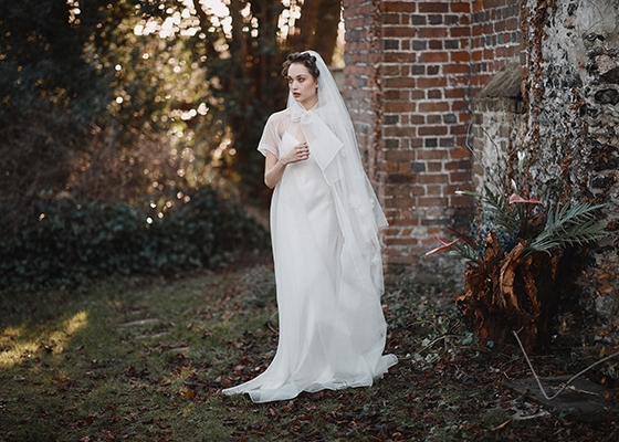 10 Questions for Kate Halfpenny Wedding Dress and Cape