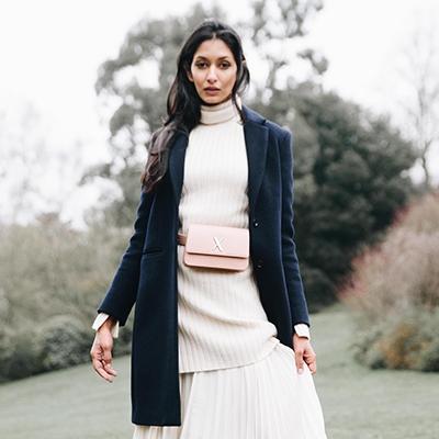 10 Questions for Jessica Kruger LUXTRA London Vegan handbags faux leather belt bag pink