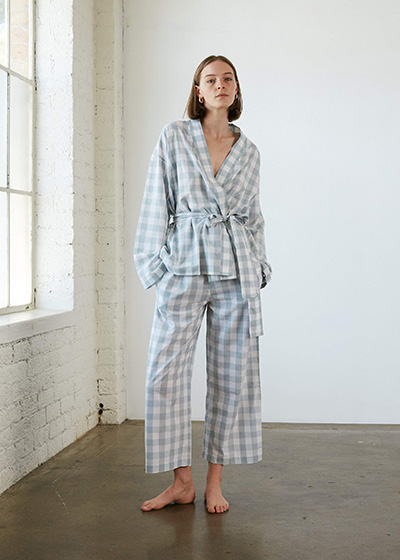 Eco Friendly Pyjamas To Snuggle Up In General Sleep Gingham Wrap Set