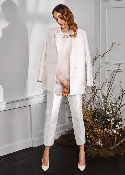 Wedding Dresses For Small Ceremonies A Halfpenny London Bridal Trouser Suit