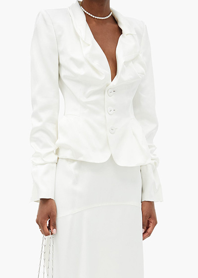 Wedding Dresses For Small Ceremonies Vivienne Westwood jacket skirt suit
