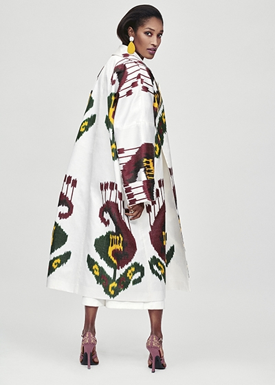 Inspiring Prints For Spring ALEXANDRA VIKTOR Ikat Chapan Coat