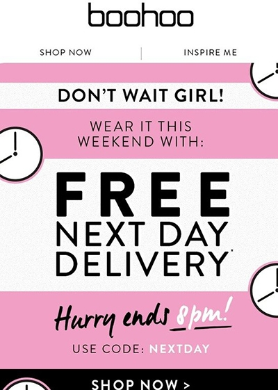Is Your Online Shopping Costing The Earth? Boohoo offer free next day delivery