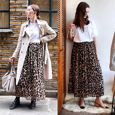 Buy Less Buy Better How To Shop More Consciously Gemma Mclean Personal Style Coach Wears leopard print skirt two ways