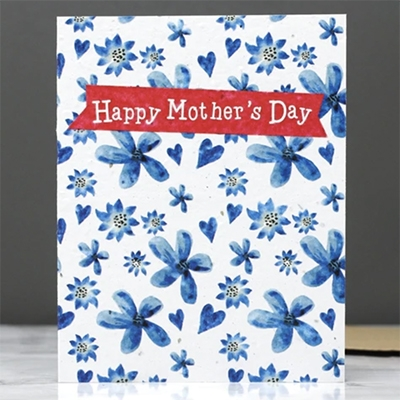 Low Waste Mothers Day Gifts Hannah Marchant Plantable Mothers Day Card