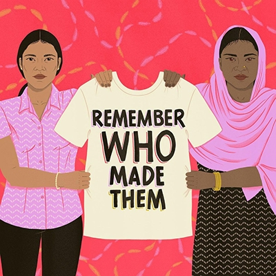 On International Women's Day, Honour Female Garment Workers Remember Who Made Them Podcast Illustrator Judith P Raynault