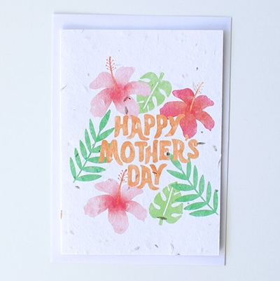 Low Waste Mothers Day Gifts Tihara Smith Seeded Happy Mother's Day Card