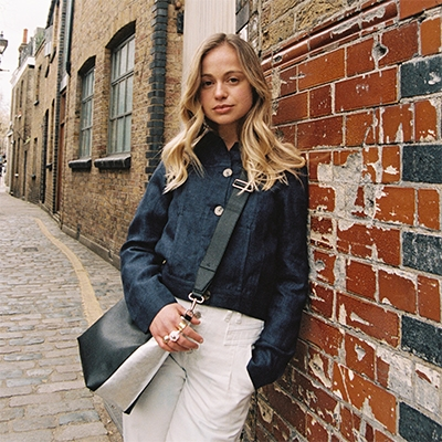 May 2021 Newsletter Mel x BEEN London Collaboration Recycled Leather Handbag