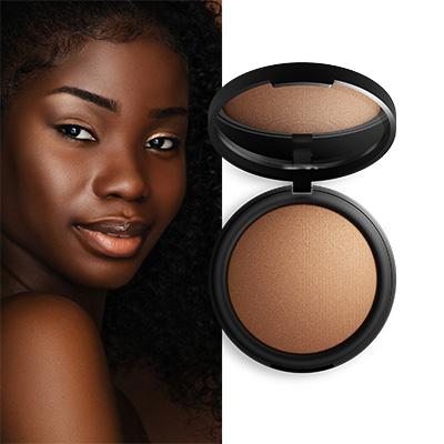 Clean and Vegan Makeup for Dark Skin Inika Organics Baked Mineral Foundation