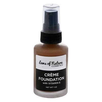 Clean and Vegan Makeup for Dark Skin Laws of Nature Creme Foundation