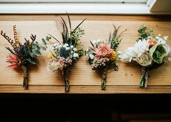 Something Green 10 Tips for planning A Sustainable Wedding Buttonholes