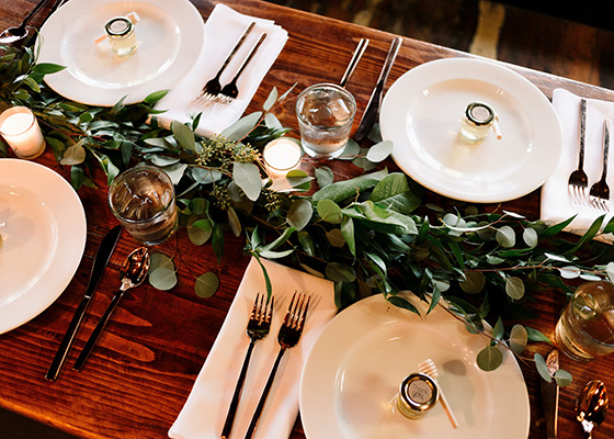 Something Green 10 Tips for planning A Sustainable Wedding Tablescape