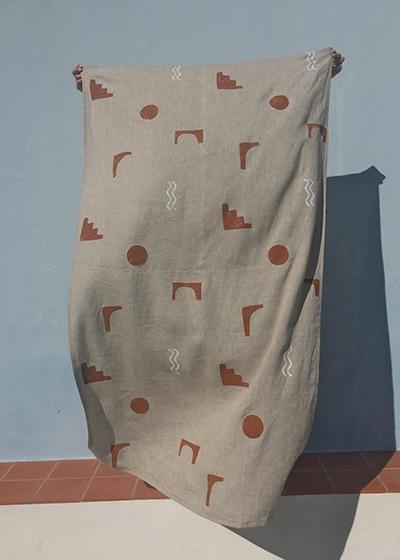 Sustainable Travel Edit Arco Linen Towel
