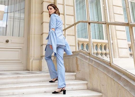 Fashion Crush Teatum Jones Emma Watson Blue Suit G7 Summit