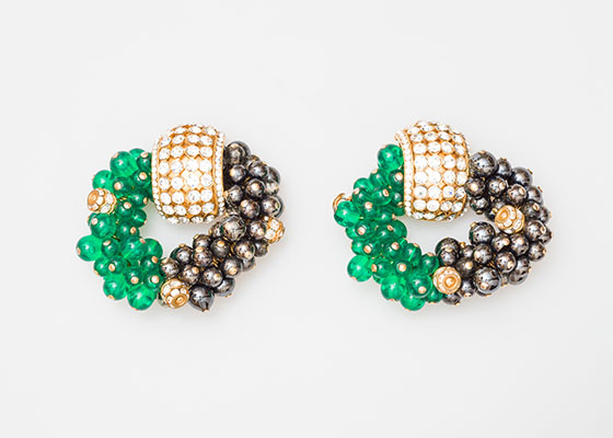 How to buy vintage and antique jewellery online Omnēque Vintage Valentino Earrings