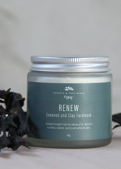Seaweed Skincare - The Sustainably Sourced Wonder Ingredient Phoenix & Providence Renew Seaweed and clay facemask