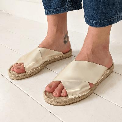 City Slides Birdsong Reclaimed Vegan Sandals
