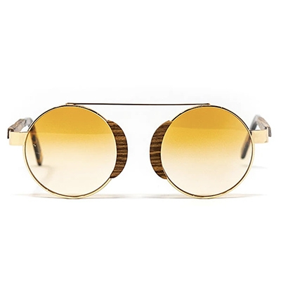 Bôhten Aristotle Gold Rosewood Colourful Sunglasses For Summer
