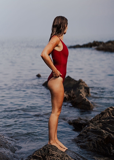 Best Active Sustainable Swimsuits Davy J Classic Red One Piece