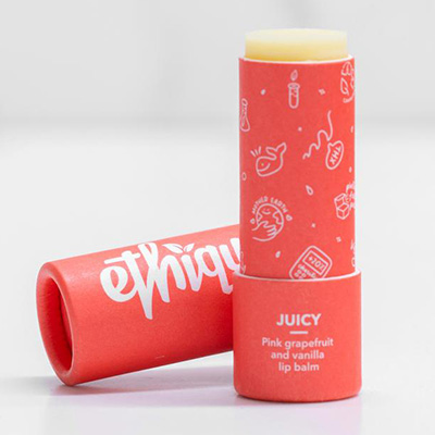 July 2021 Newsletter Ethique Juicy Pink Grapefruit Lip Balm