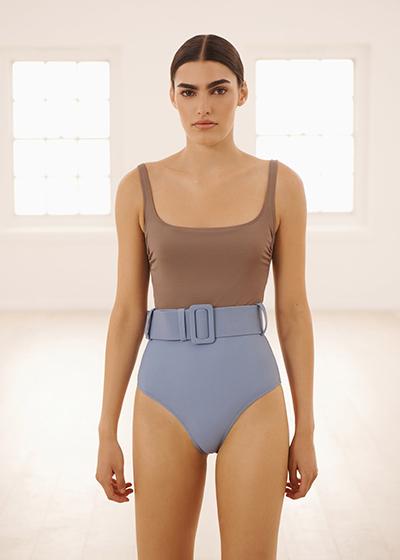 Best New Sustainable Swimwear Brands To Love Evarae ECONYL belted one piece