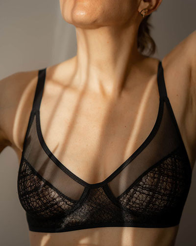 10 Questions for Heist Designer Jessica Haughton Eco Lace Bralette