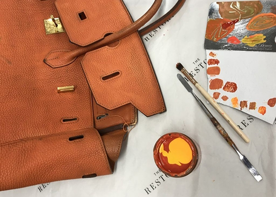 10 Questions for Thaís Cipolletta Co Founder of The Restory Repainting an Hermes Leather Birkin Bag