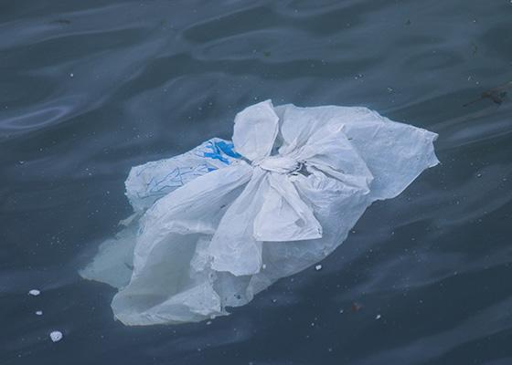 Alternatives To Plastic Bags Plastic bag floating in the ocean