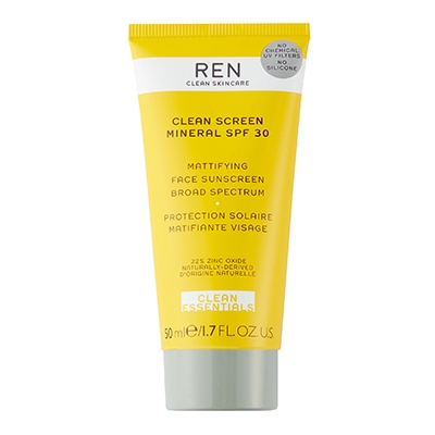 Clean Sunscreen For Your Skin Type Ren Clean Skincare Clean Screen Mineral SPF Oily Skin
