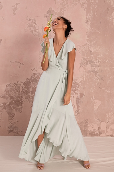10 Questions for Nola London Co Founders Abigail Heinimann and Sophia Munro Sustainable Bridesmaid dress Willow